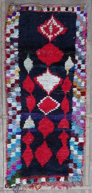 BOUCHEROUITE Boucherouite Mittlere Berber Teppich T43060