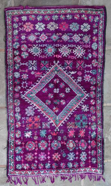 Villamatot – Beni Ouarain  Beni Ourain and Middle Atlas (antique) moroccan rugs VR43046 BENI M'GUILD