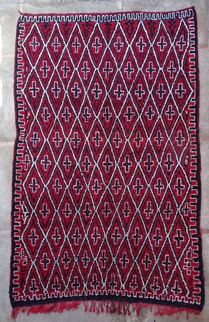 WOOL Rugs - BENI OURAIN Beni Ourain and Middle Atlas Antique moroccan rugs VR43089 BENI M GUILD