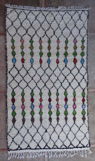 WOOL Rugs - BENI OURAIN Azilal and Ourika moroccan rugs AZ43139-195 euros 222 $