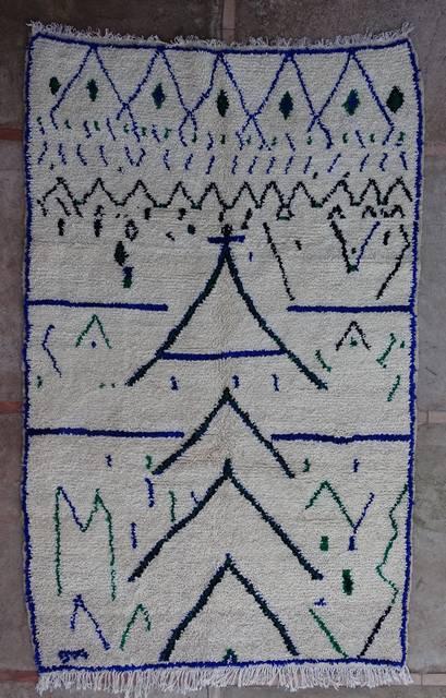Villamatot – Beni Ouarain Azilal and Ourika moroccan rugs AZ43154