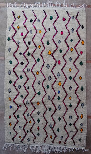 WOOL Rugs - BENI OURAIN Azilal and Ourika moroccan rugs AZ43158-202 euros 230 $