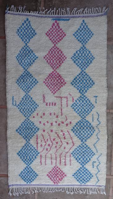 WOOL Rugs - BENI OURAIN Azilal and Ourika moroccan rugs AZ43172-192 euros 218 $
