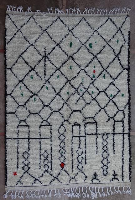 Villamatot – Beni Ouarain Azilal and Ourika moroccan rugs AZ43179