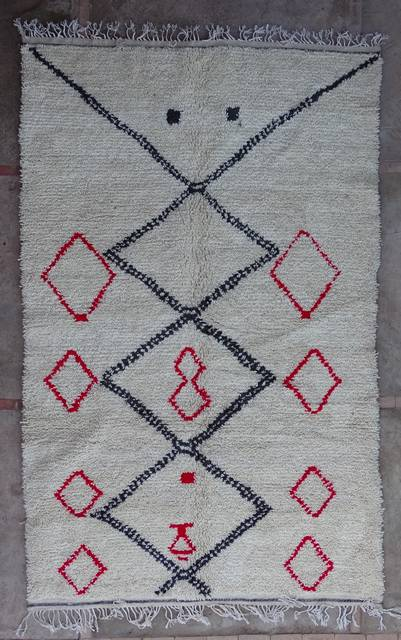 WOOL Rugs - BENI OURAIN Azilal and Ourika moroccan rugs AZ43204-195 euros 222 $