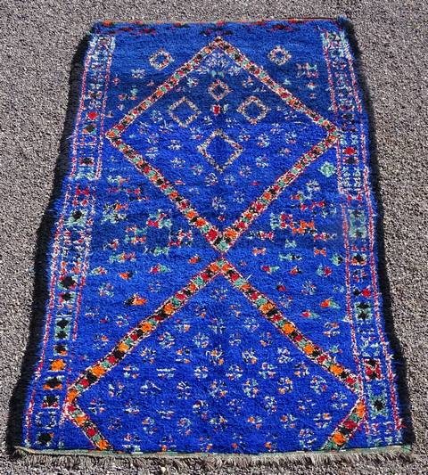 WOOL Rugs - BENI OURAIN Beni Ourain and Middle Atlas Antique moroccan rugs GHAR43033 BENI M GUILD
