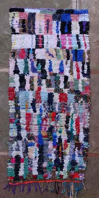 BOUCHEROUITE Boucherouite Medium moroccan rugs T43109