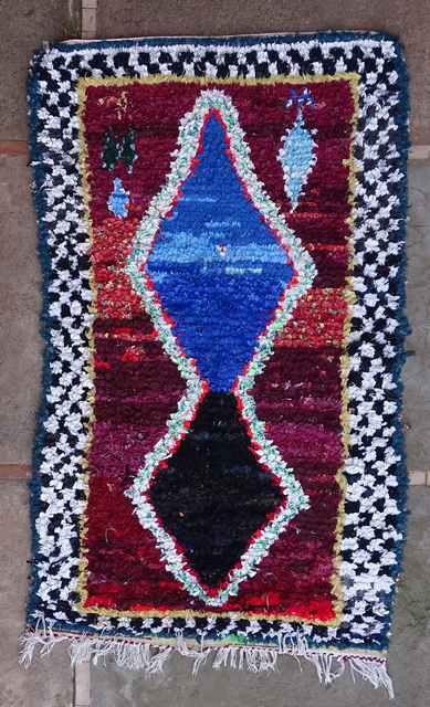 BOUCHEROUITE Boucherouite Medium moroccan rugs T43113