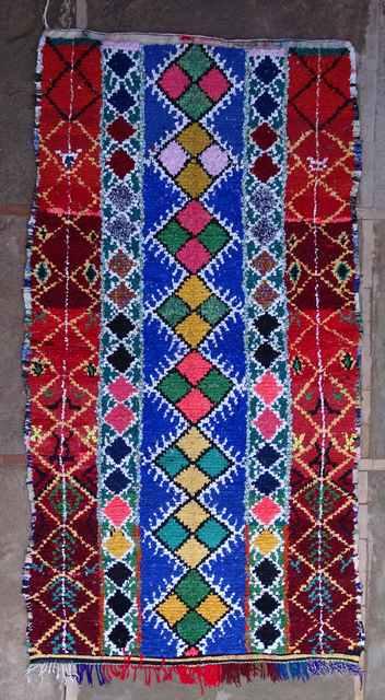 BOUCHEROUITE Boucherouite Large moroccan rugs L43128