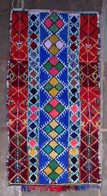 BOUCHEROUITE Boucherouite Grosse Berber Teppich L43128