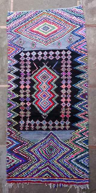 Boucherouite Large moroccan rugs L43130