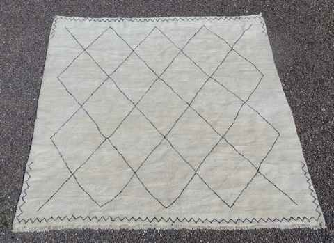 BENI OURAIN-WOOL RUGS Beni Ourain Large sizes moroccan rugs  BO43106/MA