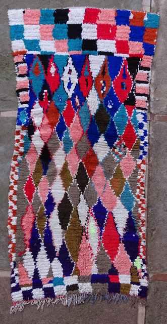 BOUCHEROUITE Boucherouite Medium moroccan rugs T43108