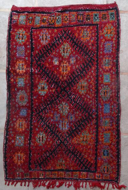 BENI OURAIN-WOOL RUGS Antique and vintage beni ourain and moroccan rugs ref : ZA44024  ZAAINE