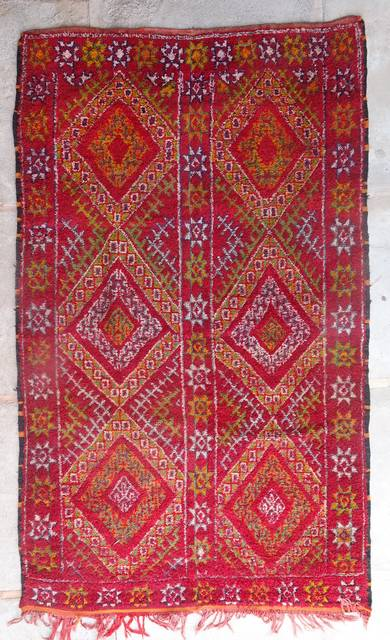 WOOL Rugs - BENI OURAIN Beni Ourain and Middle Atlas Antique moroccan rugs ZA44025 ZAAINE
