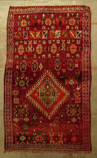 BENI OURAIN-WOOL RUGS Antique and vintage beni ourain and moroccan rugs ref : VBJ44027 BOUJAAD