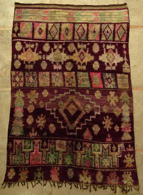 Villamatot – Beni Ouarain  Beni Ourain and Middle Atlas (antique) moroccan rugs VBJ44031  BOUJAAD