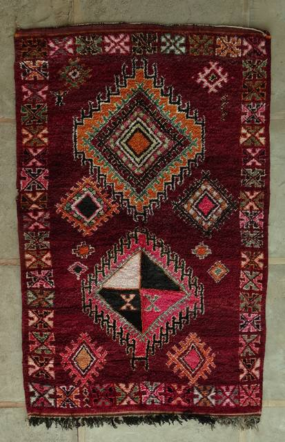 BENI OURAIN-WOOL RUGS Antique and vintage beni ourain and moroccan rugs moroccan rugs VBJ44039