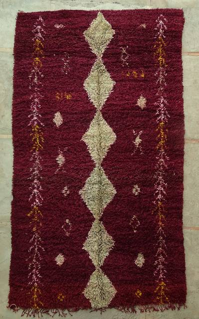 WOOL Rugs - BENI OURAIN Beni Ourain and Middle Atlas Antique moroccan rugs GHBJ44041