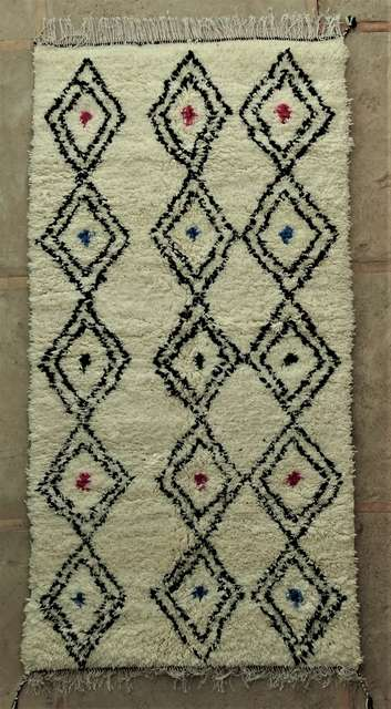 WOOL Rugs - BENI OURAIN Azilal and Ourika moroccan rugs AS44071