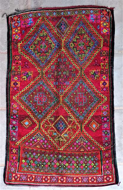 BENI OURAIN-WOOL RUGS Antique and vintage beni ourain and moroccan rugs moroccan rugs VBJ44076