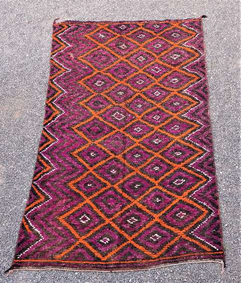 WOOL Rugs - BENI OURAIN Beni Ourain and Middle Atlas Antique moroccan rugs TA44078