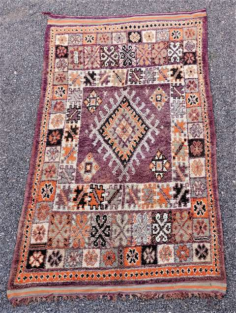 WOOL Rugs - BENI OURAIN Beni Ourain and Middle Atlas Antique moroccan rugs GHBJ44079