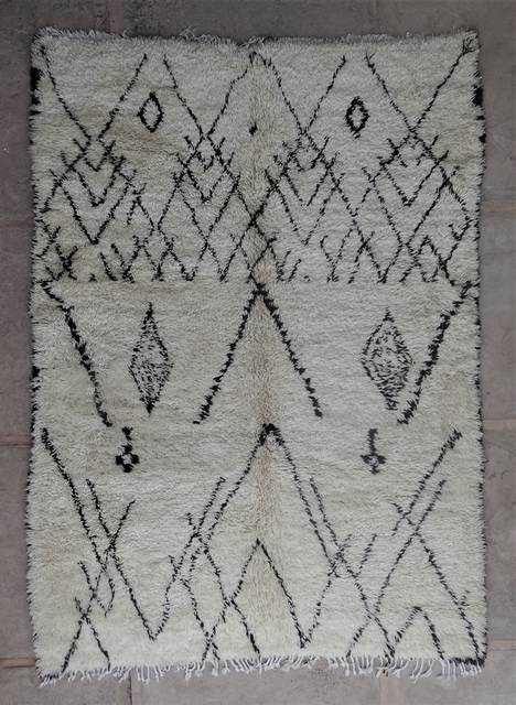 WOOL Rugs - BENI OURAIN Beni Ourain and Middle Atlas Antique moroccan rugs BOA45082