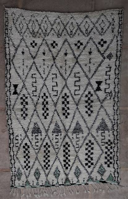 WOOL Rugs - BENI OURAIN Beni Ourain and Middle Atlas Antique moroccan rugs BOA45090