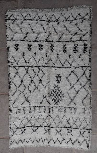 WOOL Rugs - BENI OURAIN Beni Ourain and Middle Atlas Antique moroccan rugs BOA45091