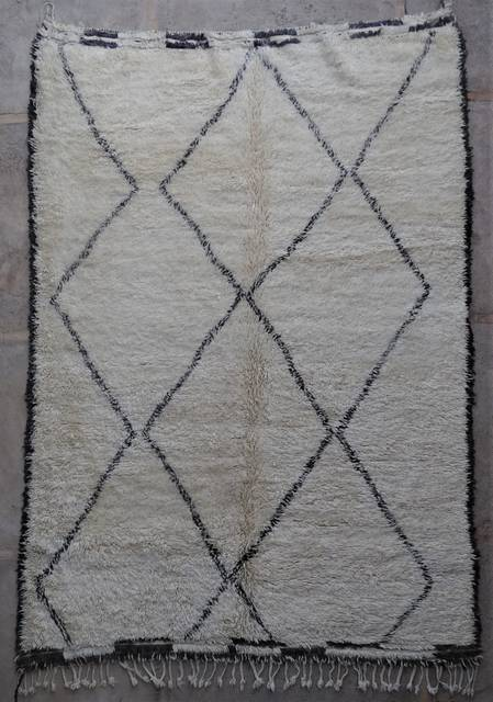 WOOL Rugs - BENI OURAIN Beni Ourain and Middle Atlas Antique moroccan rugs BOA45096