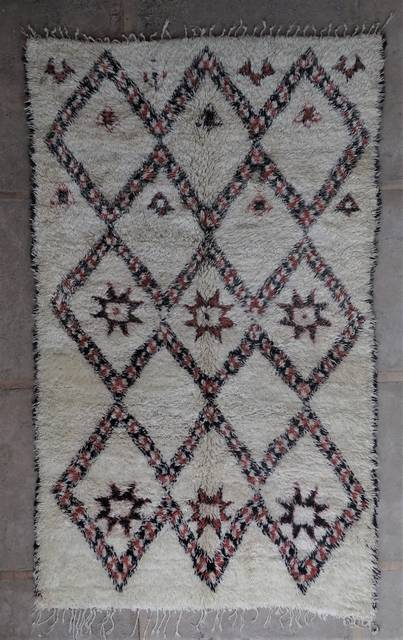 WOOL Rugs - BENI OURAIN Beni Ourain and Middle Atlas Antique moroccan rugs BOA45097