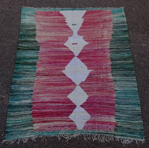 BOUCHEROUITE-KILIMS Kilims cotton and recycled textiles moroccan rugs LKC45100  kilim
