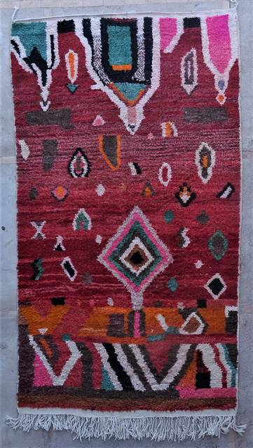 WOOL Rugs - BENI OURAIN Boujad and coloured Beni Ourain moroccan rugs VBJ45125