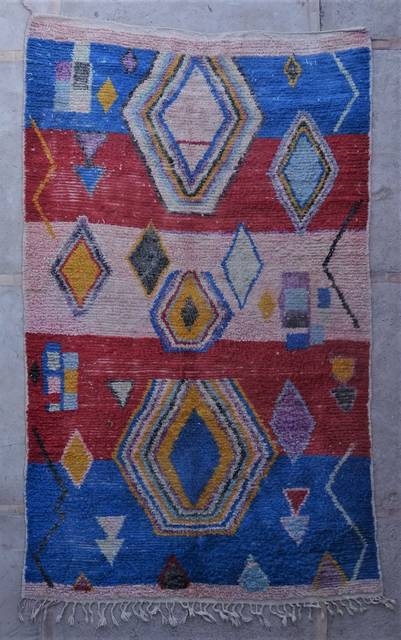 BENI OURAIN-WOOL RUGS Beni Ourain and Boujaad with colors moroccan rugs VBJ45126