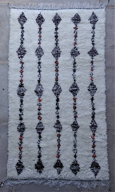 WOOL Rugs - BENI OURAIN Azilal and Ourika moroccan rugs AS45130