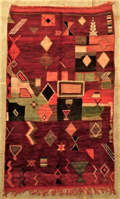 Villamatot – Beni Ouarain  Beni Ourain and Middle Atlas (antique) moroccan rugs VBJ45034