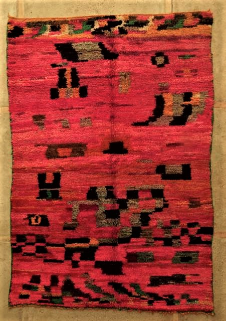 WOOL Rugs - BENI OURAIN Boujad and coloured Beni Ourain moroccan rugs VBJ45037