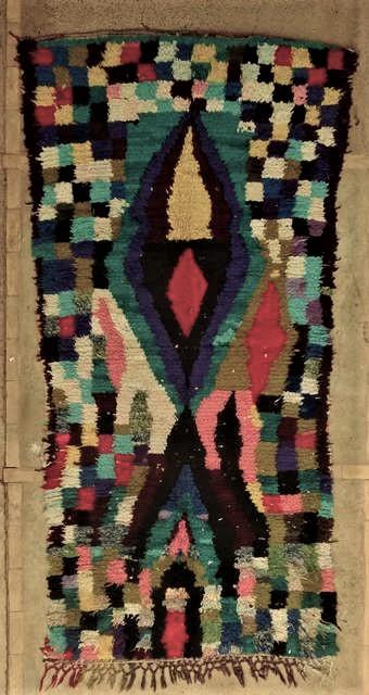 BOUCHEROUITE Boucherouite Medium moroccan rugs T45045