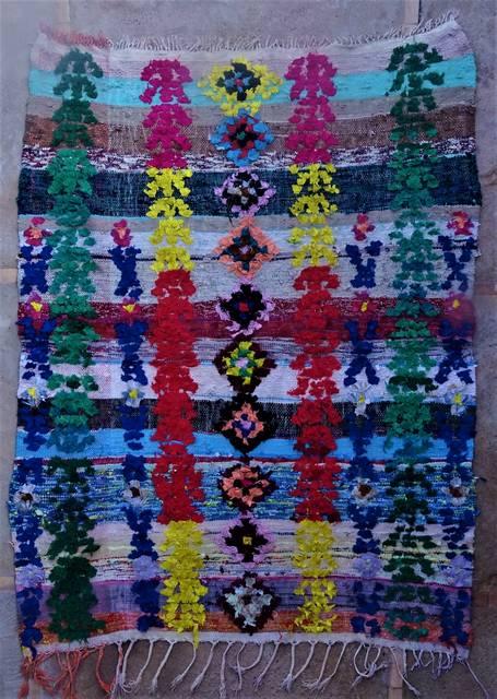 BOUCHEROUITE Boucherouite Medium moroccan rugs T46027