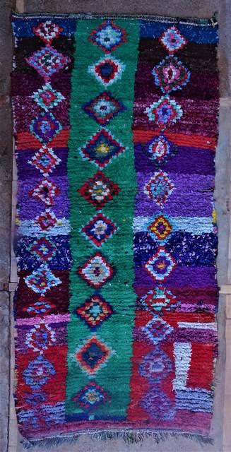 BOUCHEROUITE Boucherouite Medium moroccan rugs T46028