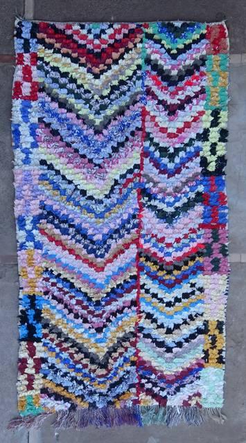 BOUCHEROUITE Boucherouite Medium moroccan rugs T46033