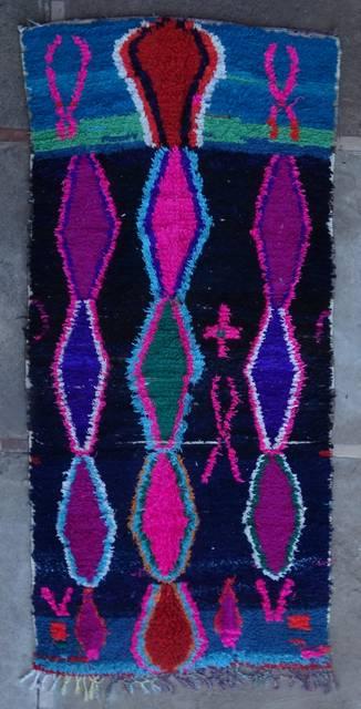 BOUCHEROUITE Boucherouite Mittlere Berber Teppich T46034