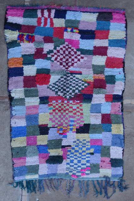 Boucherouite Medium moroccan rugs T46037