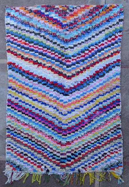 Boucherouite Medium moroccan rugs T46039