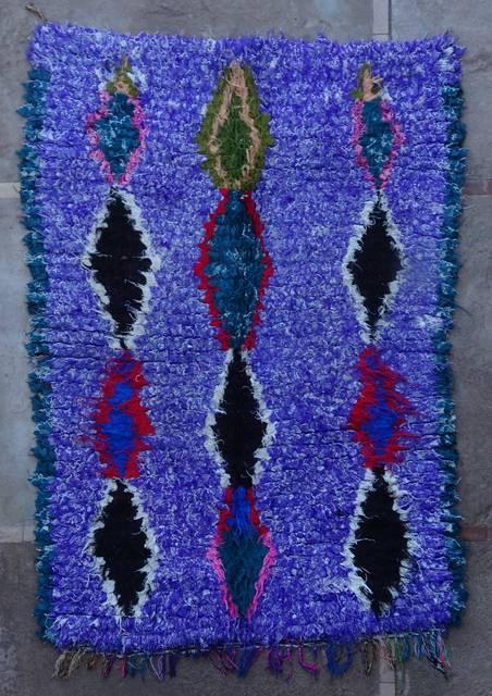 Boucherouite Medium moroccan rugs T46043