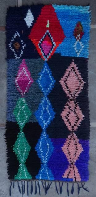 BOUCHEROUITE Boucherouite Medium moroccan rugs T46044
