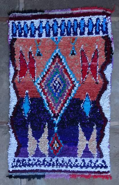 BOUCHEROUITE Boucherouite Medium moroccan rugs T46047