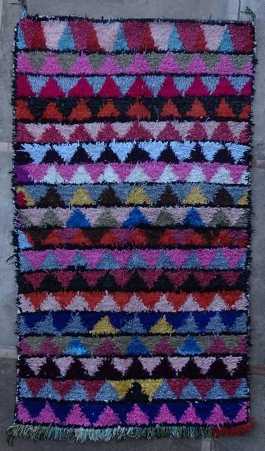 BOUCHEROUITE Boucherouite Medium moroccan rugs T46049