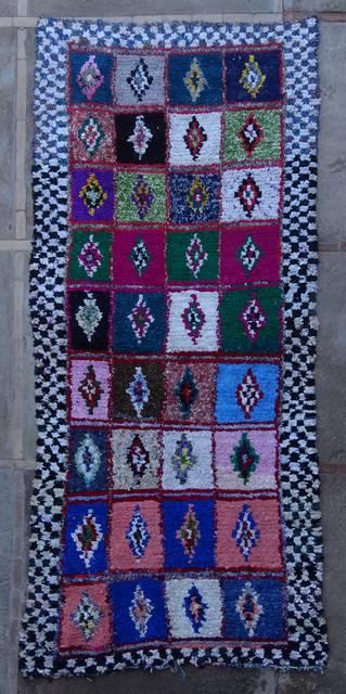 BOUCHEROUITE Boucherouite Large moroccan rugs L46050